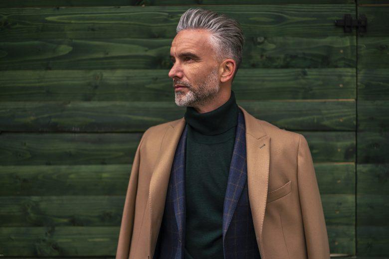 Palton maro pentru barbati