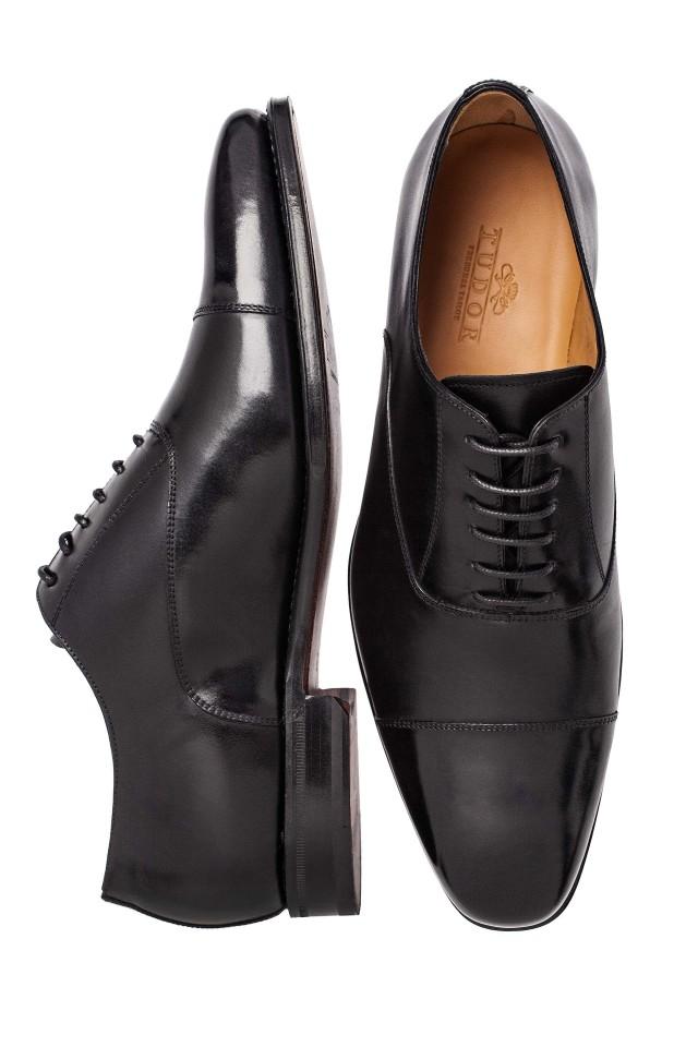 black oxford wedding shoes