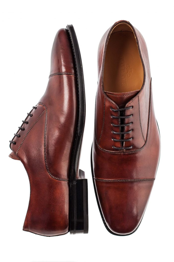 brown oxford wedding shoes