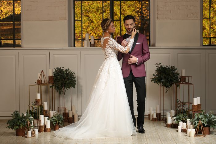 burgundy wedding suit