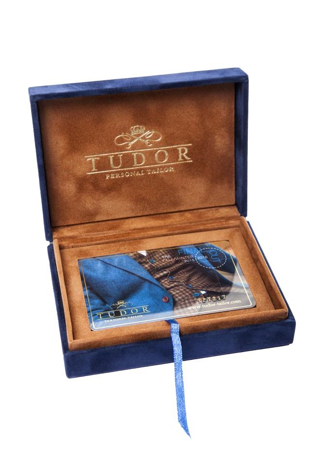 card cadou la tudor tailor, pentru barbatii eleganti