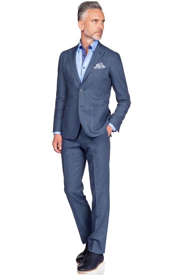 costum bleumarin smart casual clasic