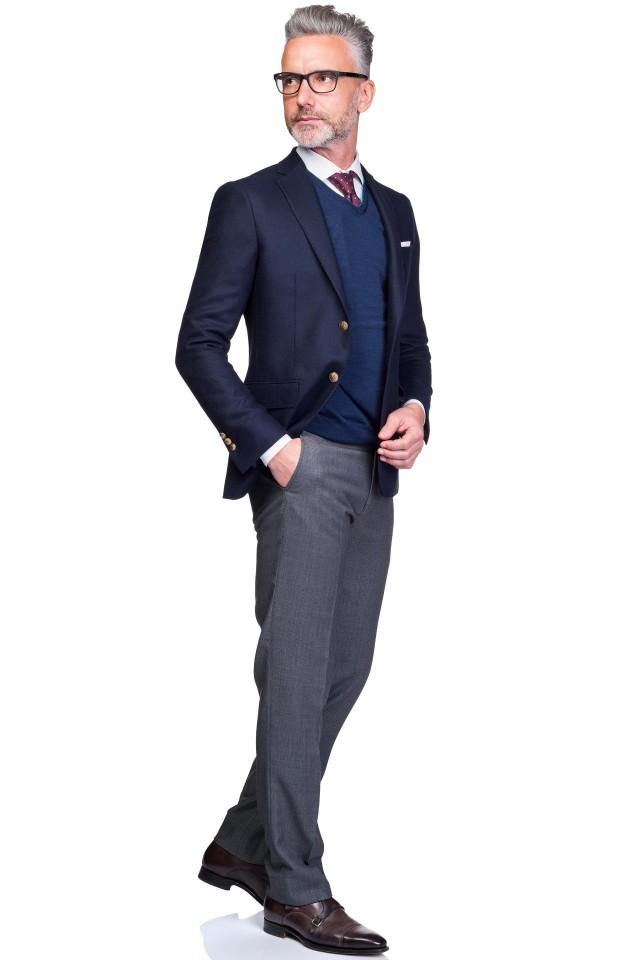 costum bleumarin smart casual