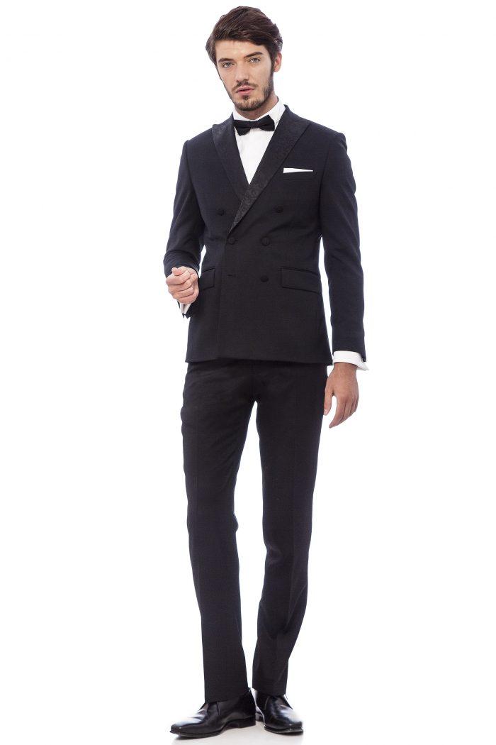 dress code black tie costum elegant