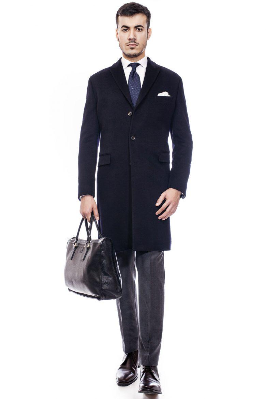 palton de bărbați negru clasic