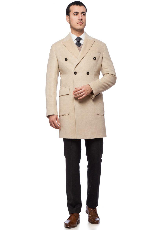 model palton bărbătesc alb