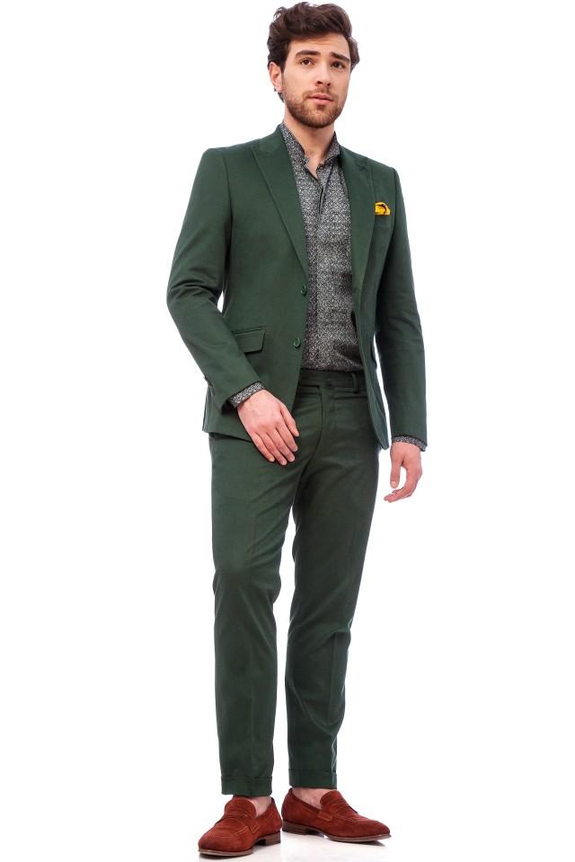 Costum casual verde Tudor Tailor