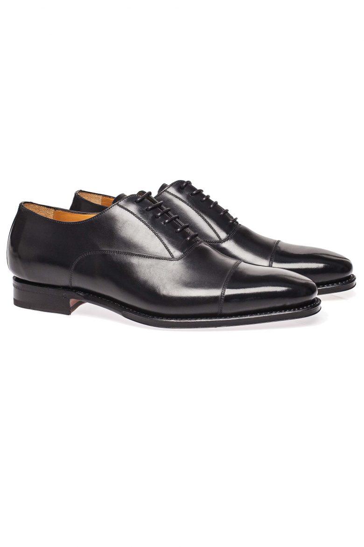 pantofi oxford cap toe negri