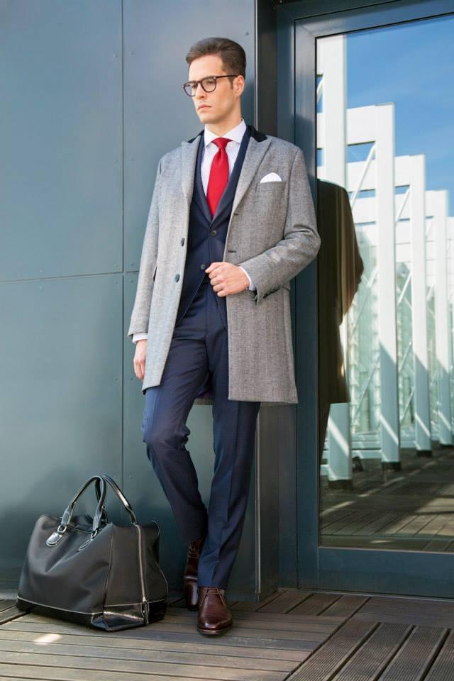palton pentru costum bleumarin