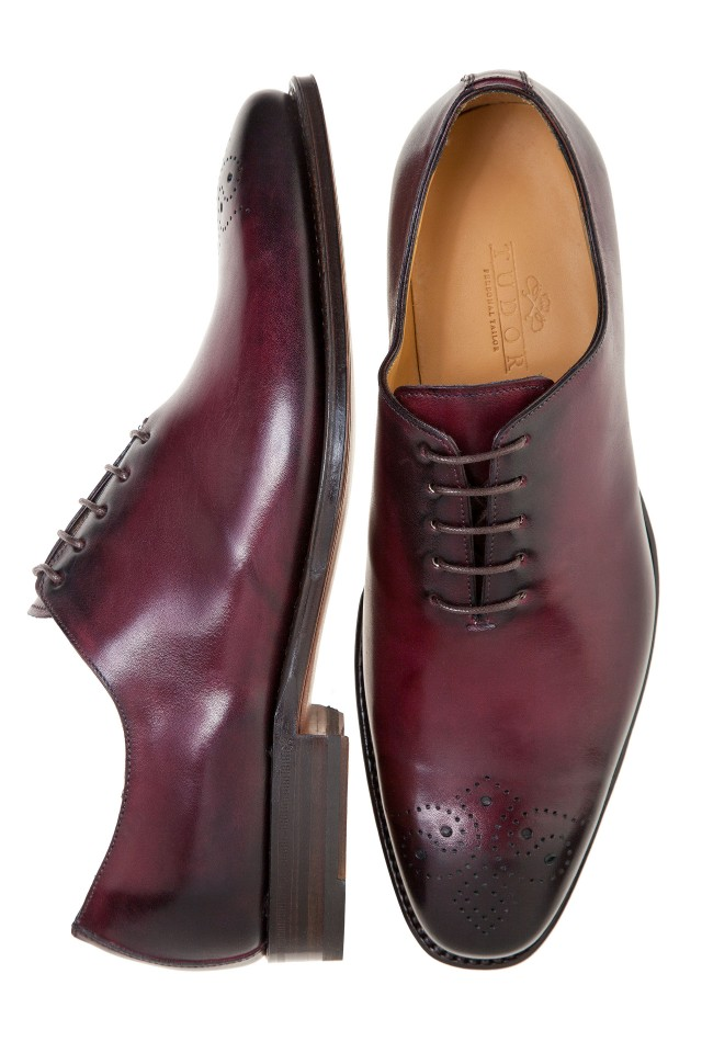 pantofi oxford burgundy