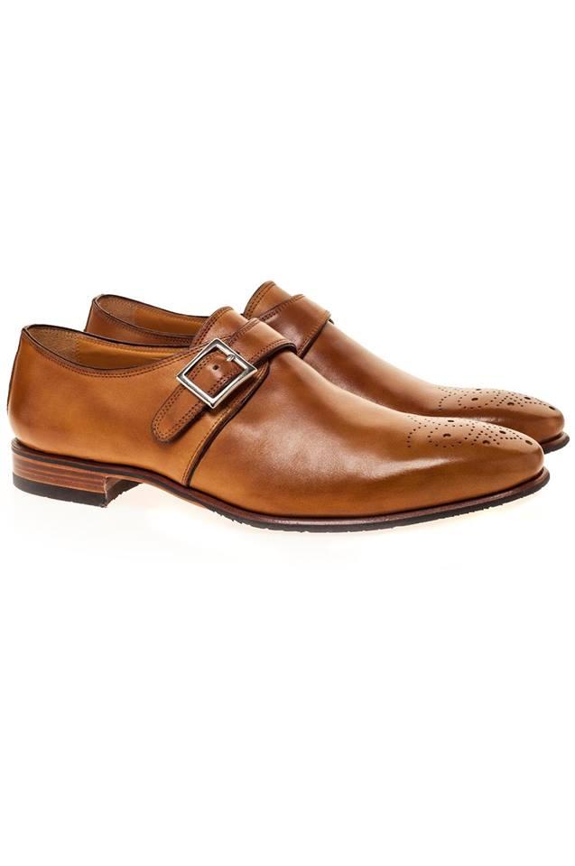 pantofi single monk strap pentru barbati