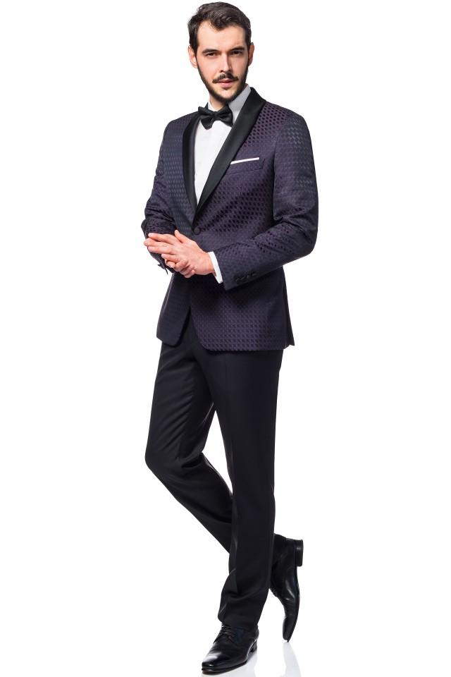 purple wedding tuxedo