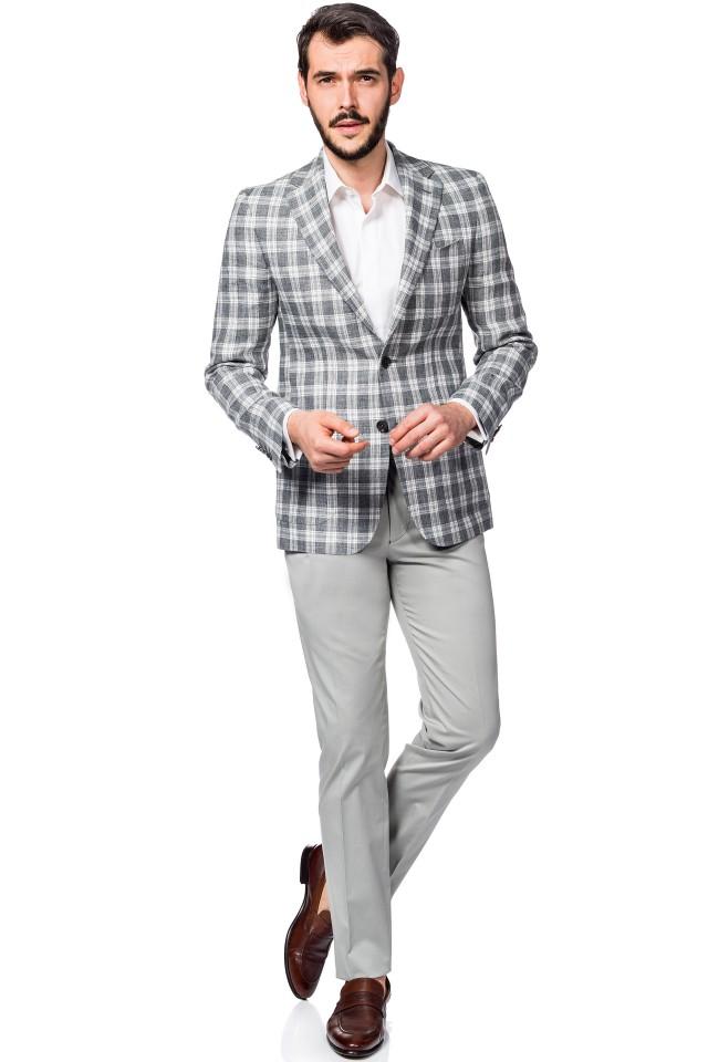 the linen wedding suit